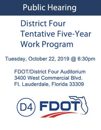 D4 Tentative 5 Year Work Program
