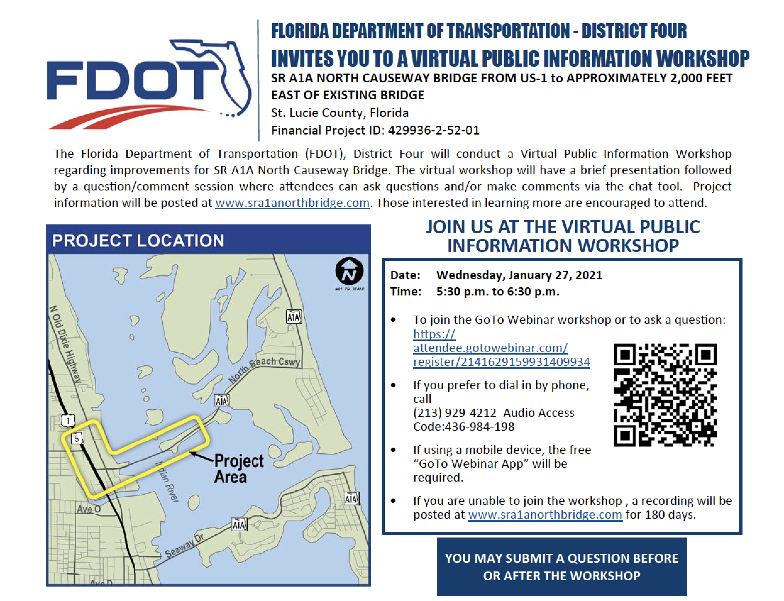 FDOT Virtual Workshop Jan 27, 2021